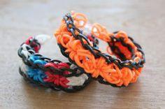 Deze stoere armband maken voor Koningsdag? Kijk op www.knutselenmetkinderen.nl/2014/05/22/loom-bandz-stersteek-armband