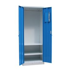 Blue metal wardrobe with mirror - Luoyang Hefeng Furniture Air Ventilation, Luoyang, Mirrored Wardrobe, Schools, Locker Storage, Metal, Blue, Furniture, Home Decor