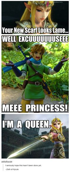 Zelda From Hyrule Warriors Doesn't Take Crap
