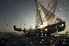 For those of you that think sailing is a leisurely sport, that is only the case when there is no wind.