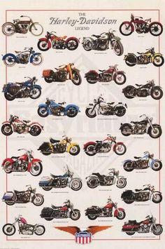 Harley-Davidson Legendary Motorcycles Poster 24x36 – BananaRoad