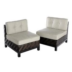 AE Outdoor Rachel 2-Piece Wicker Patio Seating Set with Cast-Ash Cushions C672201CAS at The Home Depot - Mobile