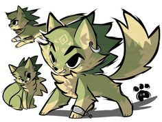 Chibi toon wolf Link.  Not sure to whom credit should go.