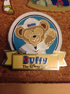 Duffy Bear Sailor Waving Name Title Mystery Hong Kong HKDL Disney PIN | eBay