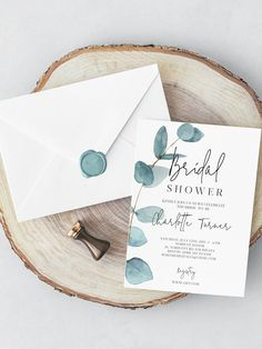 Greenery Bridal Shower Invitation Bachelorette invite Bridal Brunch bridal shower invite botanical bridal modern eucalyptus wedding 113 - I Do - Bachelorette Invitations, Wedding Shower Invitations, Diy Invitations, Wedding Invitation Wording, Invitation Templates, Invites, Botanical Wedding Invitations, Invitation Ideas, Bridal Shower Rustic