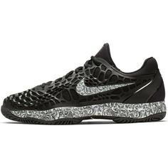 d8018292da9 Nike Air Zoom Cage 3 Men s Tennis Shoes Black White Racket Racquet  918193-006