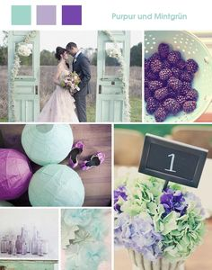 mintgr n on pinterest hochzeit purple wedding and deko. Black Bedroom Furniture Sets. Home Design Ideas