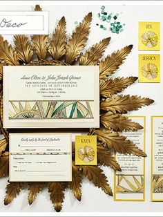 art deco invites