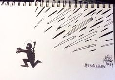 @laloalcaraz I just drew this on a plane to Houston, please share for #CharlieHebdo