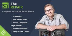 Download The Repair v2.7 - Computer, Mobile and Electronics Repair WordPress Theme Nulled Latest Version