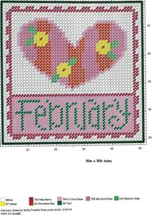 FEBRUARY STAMP by KATHY FRANKLIN -- WALL HANGING