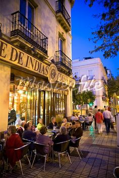 Outdoor Restaurant, Seville, Spain Stock Photos