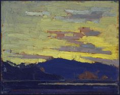 Yellow Sunset. Tom Thomson.