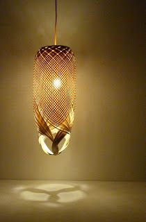 Handwoven lighting by Louise Tucker