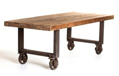 Fiumicino Dining Table on wheels; Earth Inc. reclaimed patio in Toronto; Gardenista