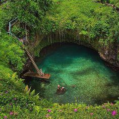 "http://instagramity.com/media/879619541116237500_303273692  Earth Pics (@earthpix) on Instagram: ""To Sua Ocean Trench, Samoa #EarthPix #heaven #lake #green #swim #feelwonderful #people #tree #peace Photo via @TourThePlanet"" | Instagramity"