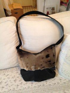 Taske med sælskind