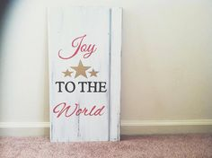 Joy to the World Wood Sign by allsignspoint2ray on Etsy