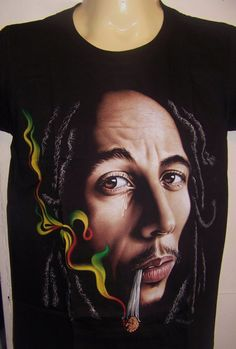 Bob  Marley weed smoking two sided  shirt by ANMARIKEDECORPLUS #Bong#Medical#Weed#Kush#THC#Pipe#Pot#Pipe#Waterpipe#Teagardins#SmokeShop 8531 Santa Monica Blvd West Hollywood, CA 90069 - Call or stop by anytime. UPDATE: Now ANYONE can call our Drug and Drama Helpline Free at 310-855-9168. Teagardins.com