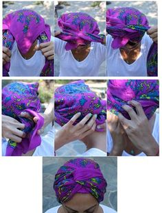 Head Scarf Styles, Hair Styles, Hair Cover, Scarf Hairstyles, Wraps, Make Up, Pretty, Pictures, Diy