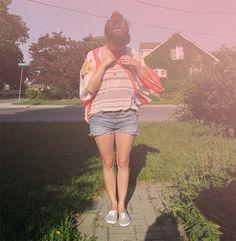 easy summer outfit idea #kimono #ootd