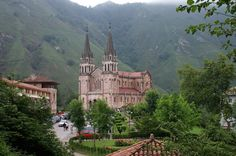 cathedral in covadonga, spain