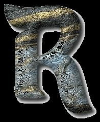 Alfabeto metalizado sobre fondo gris. | Oh my Alfabetos!