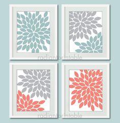 Floralwall art, home decor, gift print, living room decor
