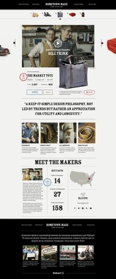 Product Concept for Curated Made In The USA Commerce Experience