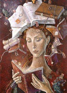 dea librì Ilustração de Daniela Zekina.
