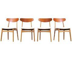 1Henning Kjaernulf Dining Chairs for Bruno Hansen
