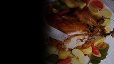 peru-com-molho-de-abacaxi-e-cachaca Pernil, Meat, Pineapple Dip, Strawberry Fruit, Sun, Sweets, Ideas, Meals