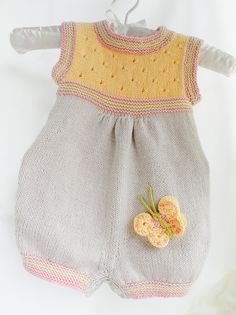 Discount Knitted baby romper cotton baby by Svetlanababyknitting 1d38bd9604f8