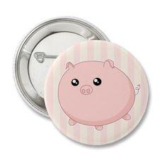 Cute Kawaii chubby pink pig by DiaSuuArt