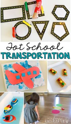 Tons of transportation themed activities and ideas. Weekly plan includes books fine motor gross motor sensory bins snacks and more! Perfect for tot school preschool or kindergarten. Transportation Preschool Activities, Transportation Unit, Preschool Curriculum, Preschool Themes, Preschool Learning, Preschool Science, Transportation Theme For Toddlers, Teaching Art, Teaching Ideas