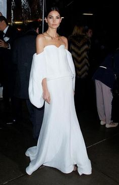 100 best dressed of 2014 - Lily Aldridge wearing a white Rosie Assoulin gown