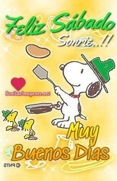 Feliz Sábado imágenes nuevas con Snoopy - BonitasImagenes.net Good Morning Snoopy, Good Morning Coffee, Good Day Quotes, Good Morning Quotes, Happy Sabbath Images, Inspirational Christmas Message, Snoopy Beagle, Good Day Wishes, Snoopy Pictures