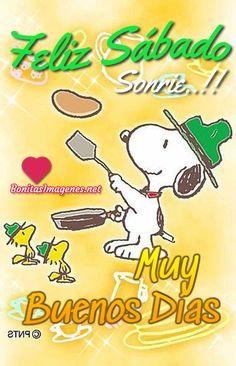 Feliz Sábado imágenes nuevas con Snoopy - BonitasImagenes.net