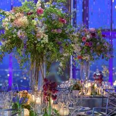 Loose and lovely armloads of flowers can be as glamorous and sophisticated as even the most precious orchid. #rainbowroom #wedding #weddingflowers #centerpiece #floraldesign #stylingnature #lewismillerdesign #spring by lewismillerdesign
