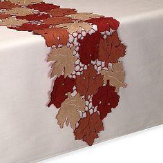 Scattered Leaves Table Runner