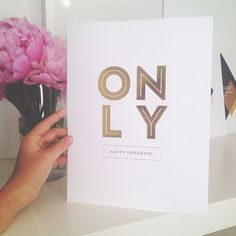 Only Happy Thoughts Print Gold Foil