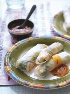 Gestoomde loempia's met sweet chilisaus van Fair Trade Original