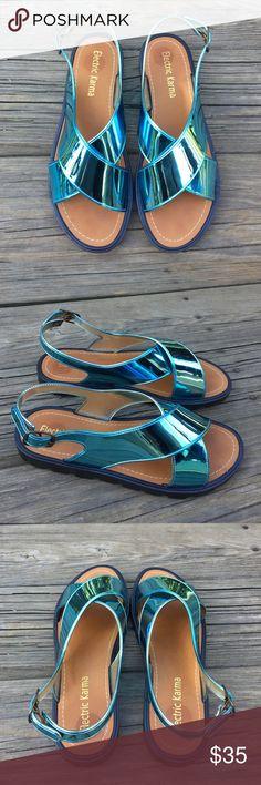 Women's Blue Electric Karma Sandals Women's Blue Electric Karma Sandals. Size 9. Very good condition. NO TRADES! Electric Karma Shoes Sandals