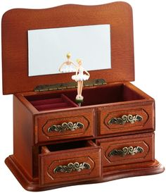 Musicbox Kingdom Little Cabinet Made of Wood Decorative Box Decorative Accessories, Jewelry Accessories, Decorative Boxes, Cabinet Making, Made Of Wood, Ballerina, Musicals, Entertaining, Ebay