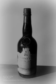 Bottle of Sherry (b/w) by majwal7_photo