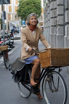 Still out on her bike