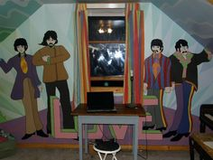 The beatles yellow submarine coast coastal aquatic for Beatles bedroom ideas