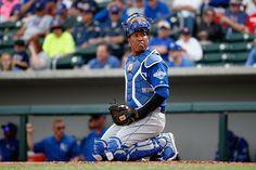 News Photo : Catcher Salvador Perez of the Kansas City Royals...