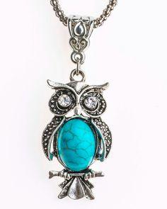 Magical Turqouise Owl Pendant - FREE SHIPPING