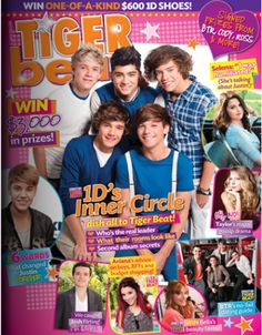 Tiger Beat Magazine One Direction Selena Gomez Justin Bieber Taylor Swift 2012 . Taylor Swift 2012, One Direction Posters, Tiger Beat, Kendall Schmidt, Inner Circle, Magazine Articles, Cool Posters, Justin Bieber, Selena Gomez